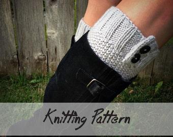 KNITTING Boot Cuff PATTERN: Boot Cuff Knitting Pattern, Boot Topper, Faux Leg Warmers, Knit Boot Cuff Pattern