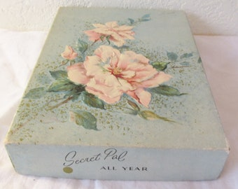Vintage 1950s Secret Pal All Year Long  UNUSED Greeting  Cards Box of 12 in Original Box