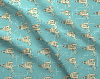 Retro Ray Gun Fabric - Retro Ray Gun By Diane555 - Retro Rays Nursery Decor Cotton Fabric By The Yard With Spoonflower