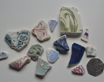 Sea pottery various fragments