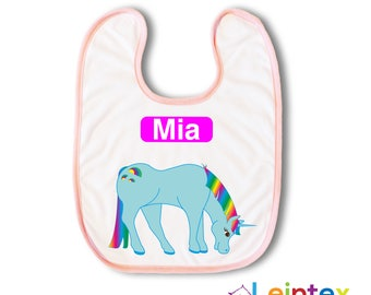 Bib with name Unicorn Baby Baby Bib No126