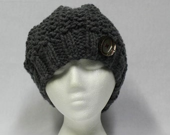 Bulky Slouchy Hat knitting PATTERN - warm bulky knit stocking hat - permission to sell finished items