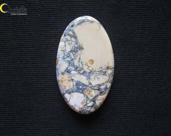 Maligano Cherry Blossom Picture Jasper Cabochon Oval 37x22x5mm (F)