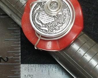 Antique button ring