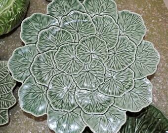 Set of 5 Portuguese Ceramic Dishes & Plates, Bordallo Pinheiro