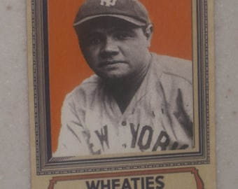 vintage babe ruth wheaties card