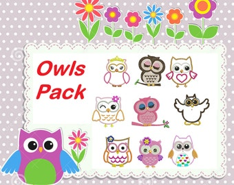 Owls Embroidery Designs