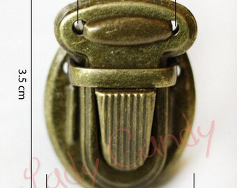 4 clasps for closure opening Bronze #330077 luggage purse satchel bag