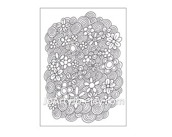 Zentangle Inspired Coloring Page PDF, Page 64