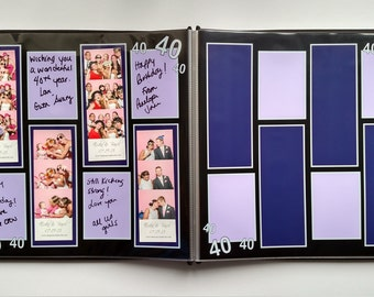 40th Birthday Photo Booth Guest Book