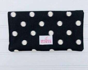 Diaper Clutch - Diaper Bag - Diaper Wallet - Baby Shower Gift - Polka Dot Diaper Clutch