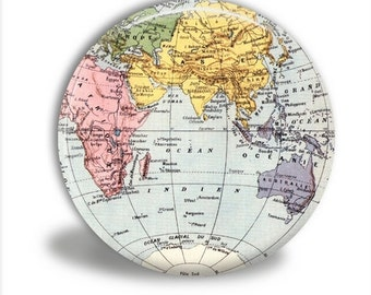 World Map Pocket Mirror, World Pocket Mirror