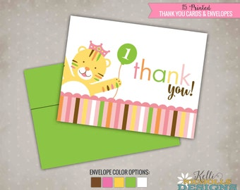 Sweet at One Birthday Thank You Cards, Girls First Birthday Thank You Notes, Giraffe #B113-G