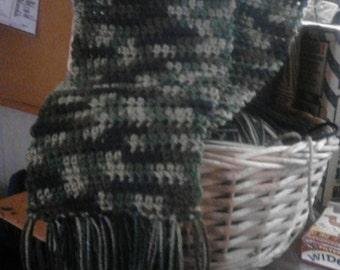 Handmade Crochet Scarf with fringe