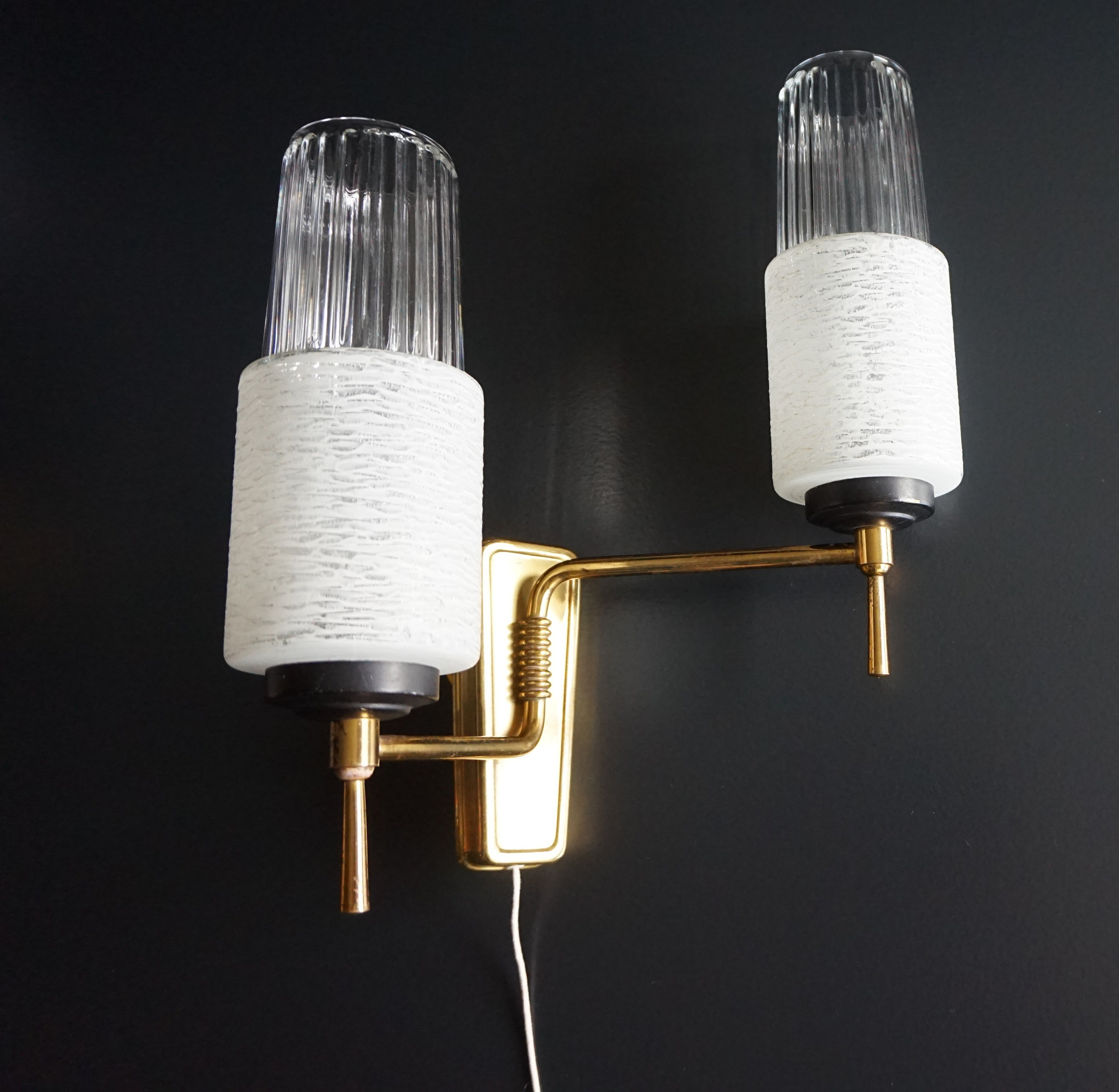 Image of 1950s French Wall Light // Mid Century Wall Light // Vintage Wall Light.