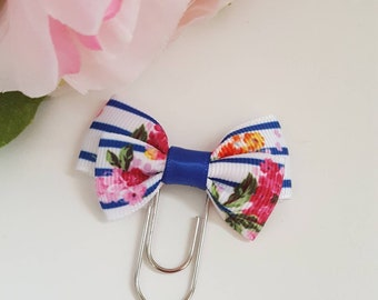 EVERLY BOW: Floral mini paper clip