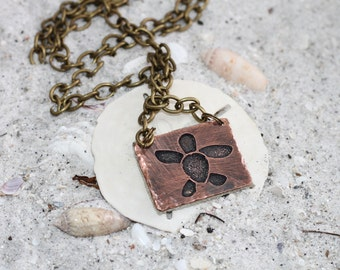 Turtle Necklace Ocean Necklace Ocean Jewelry Turtle Jewelry Beach Jewelry Beach Necklace Gifts For Her Copper Necklace