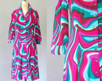 Robe de découpe mod Odyssey | des années 60 shift robe | robe vintage des années 60