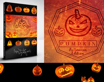 Pumpkin Halloween Edition - 15 Kürbis Overlays