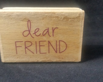 Dear Friend Used Rubber stamp
