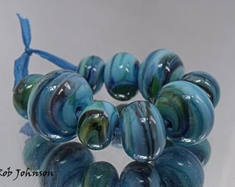 Tussa Winds, Artisan Lampwork Glass Beads, SRA, UK