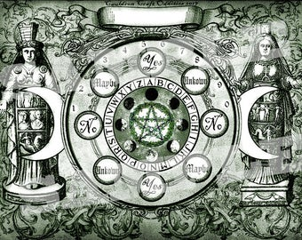 Green Goddess Pendulum Board -  Digital Download emailed to you