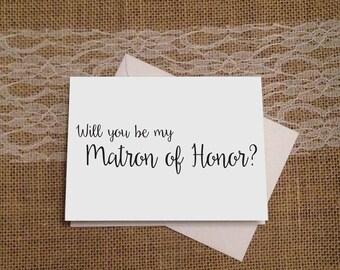 Will You Be My Matron of Honor, Maid of Honor and Bridesmaid Cards, Bridesmaid Card, Bridal Party, Wedding