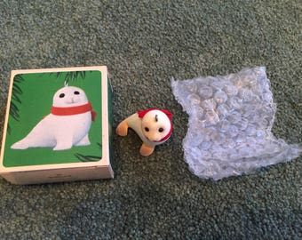 Vintage Christmas Ornament Snowy Seal