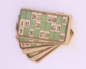 French vintage bingo loto cards