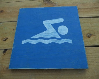 Ready to ship!  Swimming Sign - Park Sign