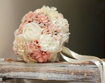 Wedding bouquet, bridal bouquet, blush bouquet