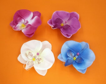 2 Pcs Flower Magnets,Orchid Fridge Magnet,Wedding Favors,Refrigerator Magnet,Bridal Baby Shower,Housewarming,Hostess Gift,Blue,White,Purple