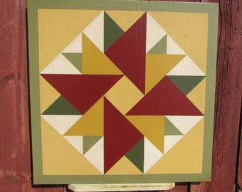"""PriMiTiVe Hand-Painted Barn Quilt - 18"""" Unframed"""