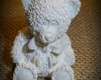 Bear teddy bear raw plaster decoration