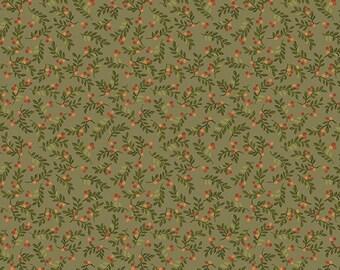 Benartex / Leaves And Berries / Cheryl Haynes / 02549 42 / Fabric / Quilting / Sage
