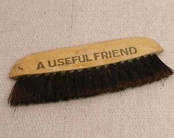 Vintage wooden clothes brush, CWS, Cooperative Wholesale Society