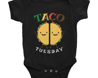 Taco Tuesday Infant Bodysuit // Funny Taco Baby Suit // Taco Cinco De Mayo Suit // Taco Lover Infant Bodysuit // Tuesday Tacos Gift Suit