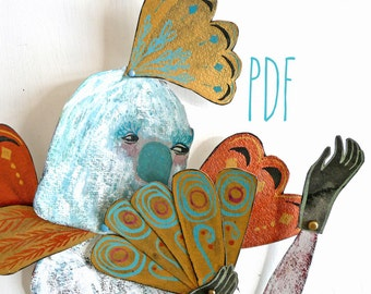 PDF Papagena Articulated Paper Doll / Hinged Beasts Series
