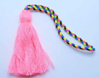 Pink Tassel, Rope Cotton Tassels, Jewelry Tassels, Tassel with Rope, Diy Tassels, 1pc, Approx 50mm, RT2, Zardenia, Diy Tassels