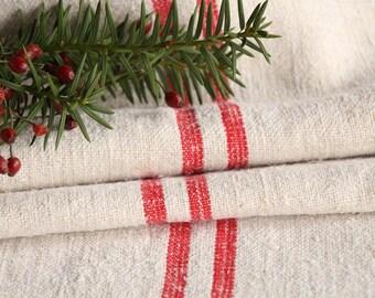 R 893:ready TABLERUNNER handloomed, rouge fraise, Noël, décoration, cousu à la main, lin dîner pour deux, français, mariage, décor 리넨, 102,36 pouces