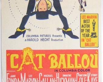 Cat Ballou - 1965 - Original Australian daybill movie poster -  Jane Fonda