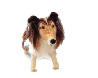 Custom Dog Sculpture, Needle Felted Dog - Personalised Shetland Sheepdog art, Cavalier King Charles Spaniel Sculpture