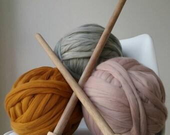 Giant knitting needles size 50 25mm diameter for chunky knitting arm knitting chunky knitting needles