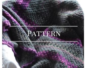 Crochet afghan pattern, Granny Square blanket, Absolute Beginner Pattern  Chocolate Dog Studio