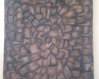 Textured Natural Radiating Mixed Media Painting