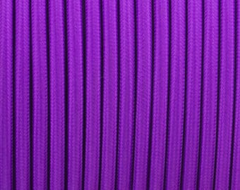 Vintage 2 Core Purple 0.75mm Flexible Cable - Braided Round Fabric Lighting Cord