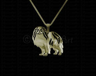 Japanese Chin jewelry - gold pendant and necklace.