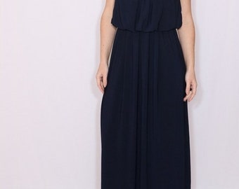 SALE Navy Bridesmaid dress Long dark blue dress Prom dress Plus size dress Custom dress