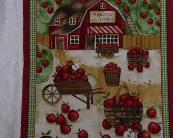 Apple Tree Farm Fabric Panel Timeless Treasures Apples Remnant