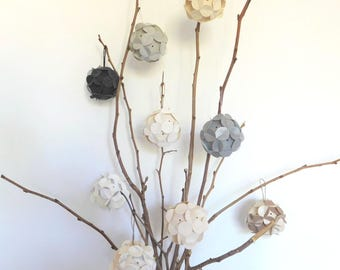 """Decorative flowers to choose """"Customizable"""" set of 6 origami"""